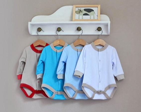Фото Боди для новорожденных мальчиков, Baby Boom. Синий цвет