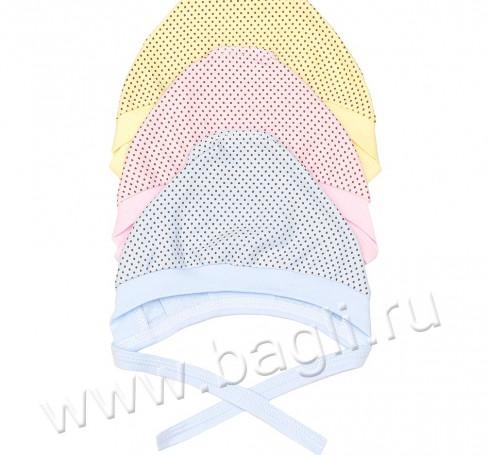 Фото Чепчик для новорожденных, горошек, размер 36 и 40. BabyGlory