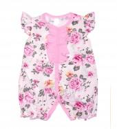 Фото Летний комбинезон для девочки Пионы, розовый. BabyBoom