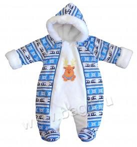 Фото Комбинезон утепленный Скандинавия, голубой. BabyGlory