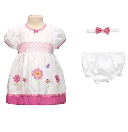 Фото Летний комплект для девочки Лето, белый с розовым. LP collection