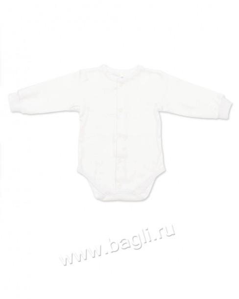 Белое боди для новорожденных на каждый день