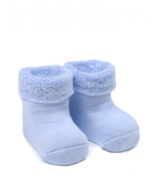 Фото Махровые носочки для мальчика, синий цвет