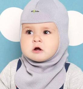 Фото Шапка-шлем на подкладке, Prikinder, 30% шерсть. Размер 44-46