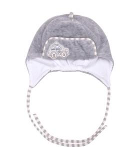 Велюровая шапочка на подкладке для новорожденных
