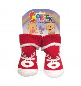 Фото Теплые носки для новорожденных новогодние. Махровые
