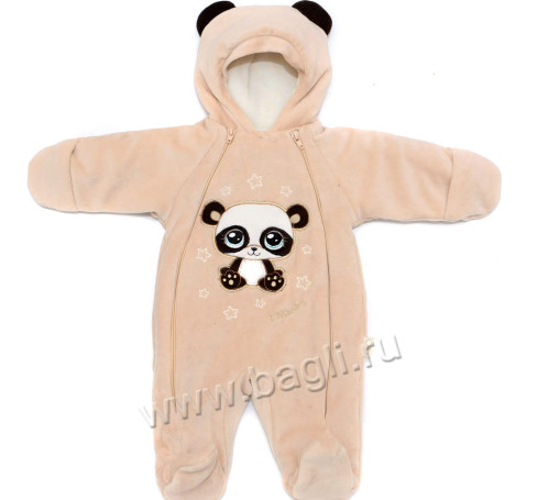 Фото Комбинезон утепленный Панда бежевый. TM Baby