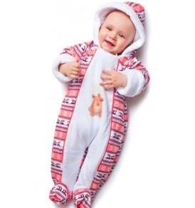 Фото Комбинезон утепленный на подкладке Скандинавия, розовый. BabyGlory
