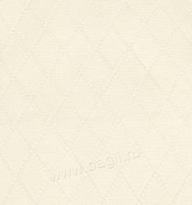 Фото Вязаный плед на подкладке для новорожденных Ромбики, Indigo
