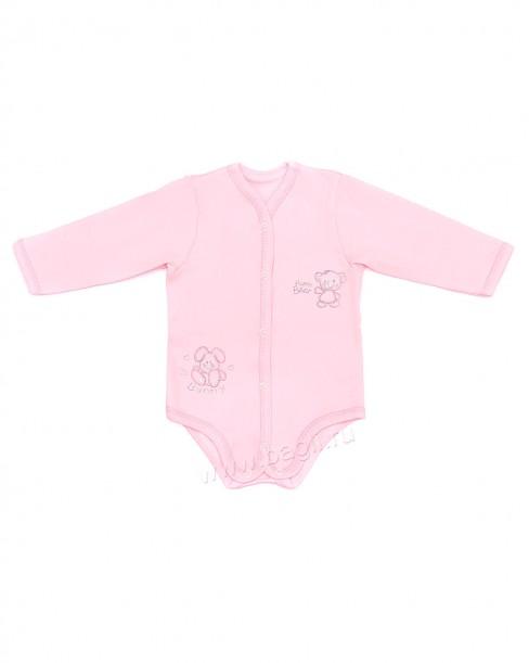 Недорогое боди для новорожденных розового цвета