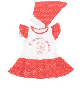 Летнее платье и косынка для девочки Самая