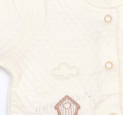 Фото Теплый комбинезон из капитония белый. Доня