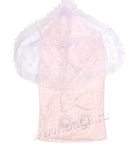 Летний комплект на выписку розового цвета из велсофта