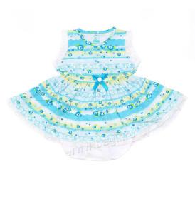 Летний комплект для девочки Мадмуазель голубой