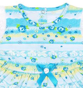 Фото Летний комплект для девочки Мадмуазель, голубой. Алиса