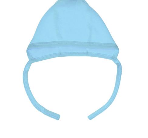 Фото Чепчик для новорожденных голубой Алёна