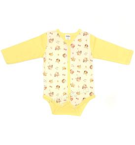 Трикотажный боди Booboo-kids желтый