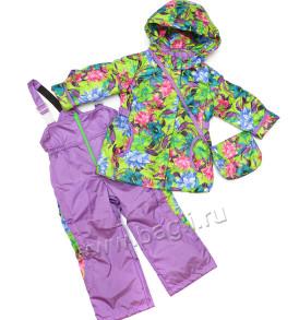 Осенний комплект для девочки Цветы - купить на Bagli.ru
