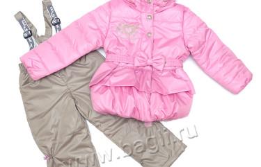 Фото: Демисезонный комплект для девочки, розовый, Егорка
