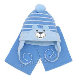 Комплект шапка с шарфом для мальчика - купить на bagli.ru