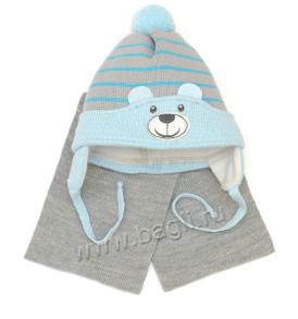 Фото: Шапка с шарфом Мой Медвежонок Grans - купить на bagli.ru