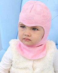 Фото Демисезонная шапка-шлем на подкладке Prikinder, 30% шерсть. Размер 42-44