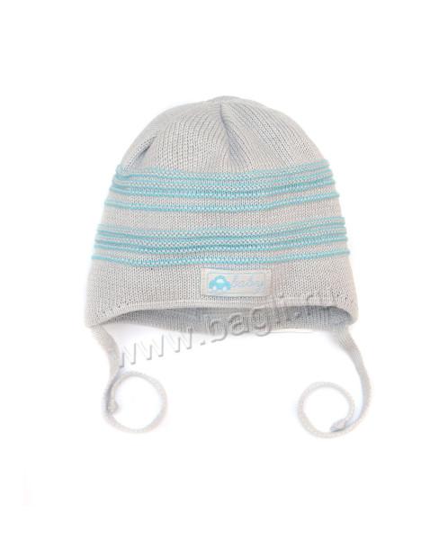 Фото Двухслойная хлопковая шапка для мальчика Grans Польша