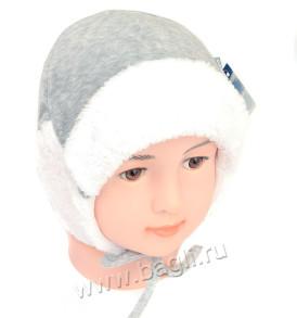 Фото Тёплая зимняя шапка MirMar серая. Польша