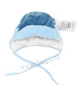 Фото Тёплая зимняя шапка MirMar, голубая. Польша