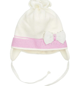 Фото Демисезонная шапка для девочки Бантик Grans, Польша