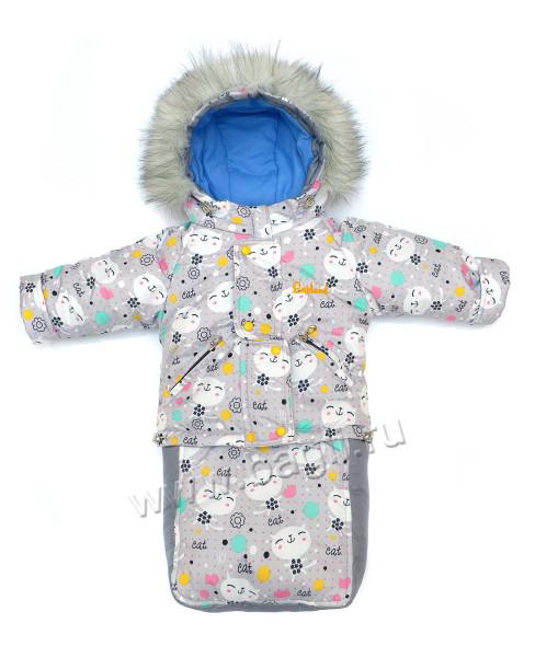 Зимний костюм для девочки 3в1 Китти - купить на Bagli.ru