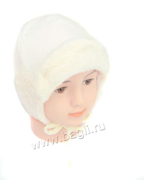 Фото Хлопковая зимняя шапка MirMar, кремовый. Польша