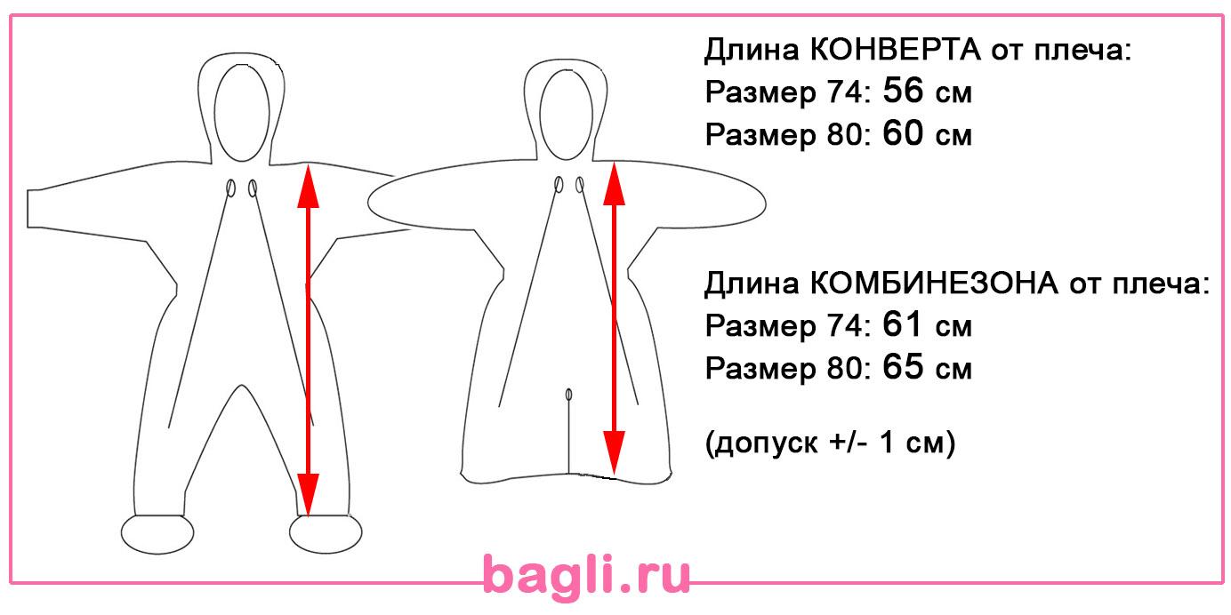 Размеры комбинезона-трансформера Egorka Korona