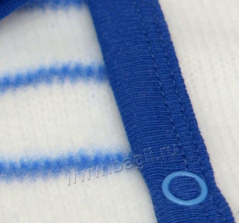 Фото Утепленный комбинезон Асимметрия белый с синим. Свет Мария