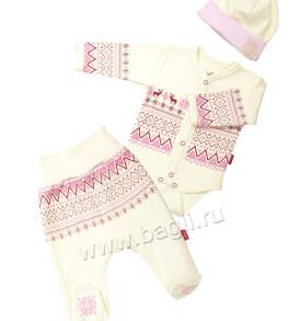 Комплект для девочки Жаккард 3 предмета - купить на bagli.ru