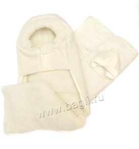 Фото Меховой комплект из 3 предметов Таддео-Люкс, пальтовая ткань