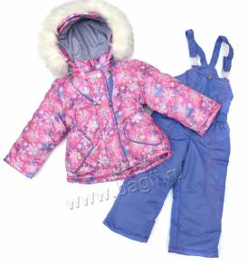 Фото Зимний комплект для девочки Снежные Цветы. LT-Kids, Беларусь