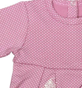 Фото Розовое боди-платье Горошки, Милуша