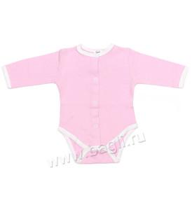 Ажурный трикотажный бодик розовый