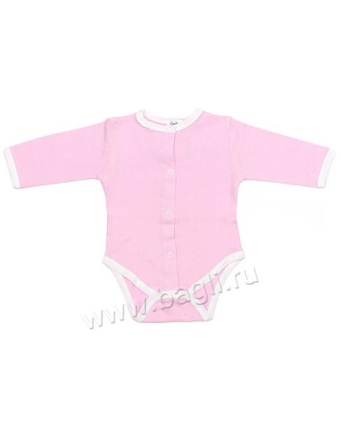 Фото Ажурный трикотажный бодик, розовый. Booboo-kids