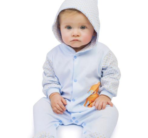 Фото Комбинезон с капюшоном Лунтик, голубой. BabyGlory