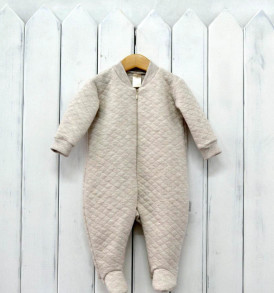 Фото Утепленный комбинезон из капитона бежевый. Baby Boom