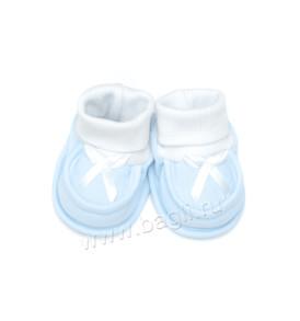 Фото Пинетки для новорожденных в подарочной сетке, голубые. Алиса