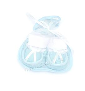 Фото Пинетки для новорожденных в подарочной сетке, розовые. Алиса