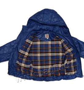Фото Демисезонная куртка Ромбики, синяя. Pikolino