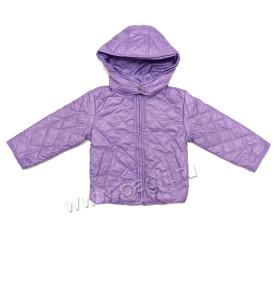 Фото Демисезонная куртка Ромбики, сиреневая. Pikolino