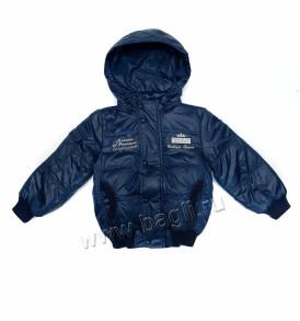 Демисезонная куртка на изософте синяя Egorka