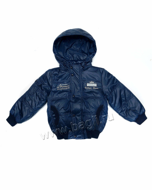 Фото Демисезонная куртка-бомбер синяя. Egorka, Беларусь