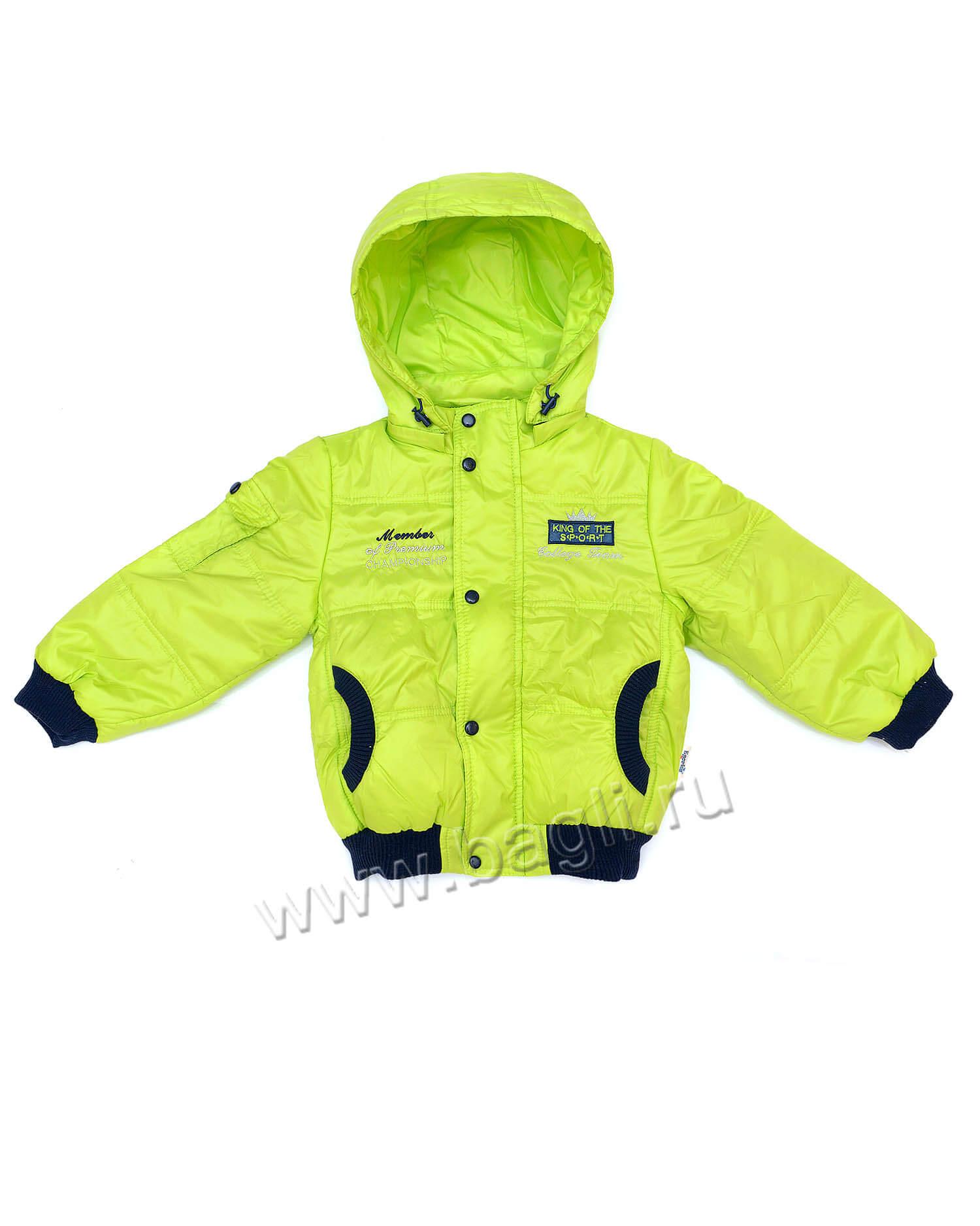 Демисезонная куртка-бомбер салатовая Egorka