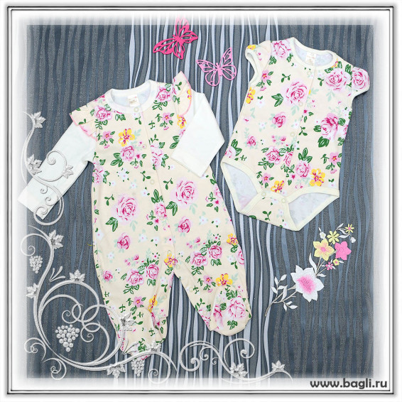 Фото Нарядный сет для новорожденных Розомания